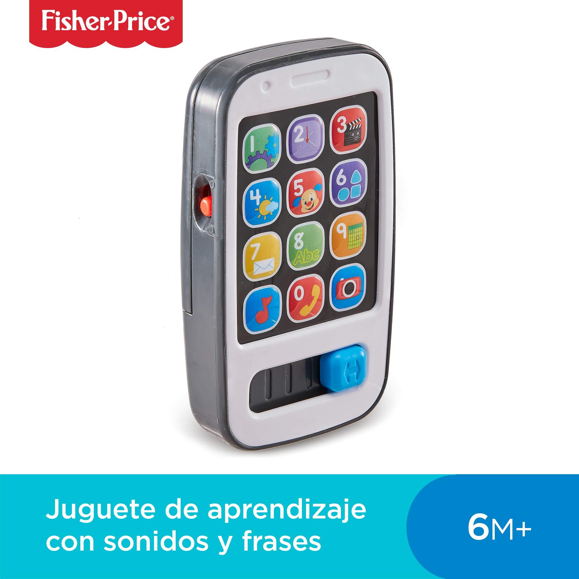 Fisher-Price Mi primer teléfono descubrimiento, juguete bebé +6 meses (Mattel BHB92): Amazon.es: Juguetes y juegos
