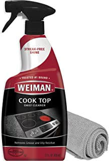 Weiman Cook Top Daily Cleaner - 22 Ounce - Weiman Microfiber Cloth for Glass Ceramic and Induction Stove Top