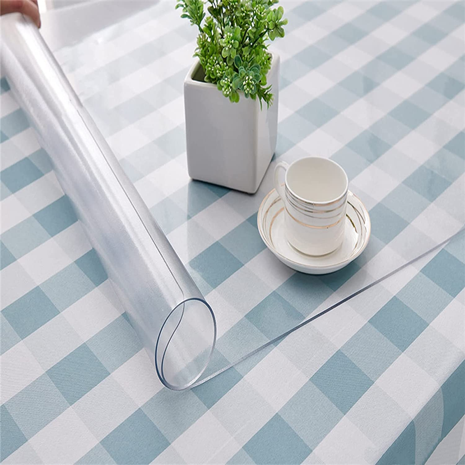 NBJT Clear Table Cover Popular products Recommendation Protector Soft 2mm Vinyl Glass PVC