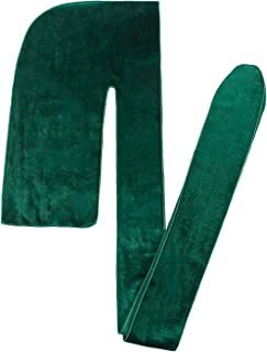 Premium Velvet Durag Awsome Snow Textile - Amazing Materials,Firm Straps