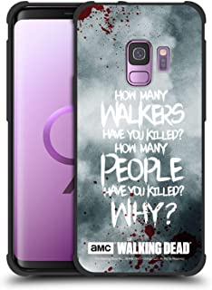 Official AMC The Walking Dead Rick Questions Quotes Shockproof Matte Black Case Compatible for Samsung Galaxy S9