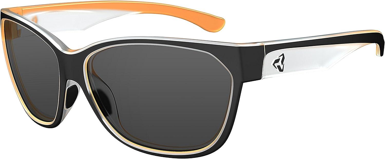 Ryders Eyewear KAT Women's Cycling Sunglasses with Grey Polarized Lenses, Blackorange