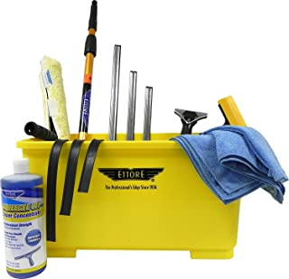 Ettore Professional Window Cleaning Kit with 4' Extension Pole