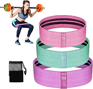 Te-Rich Fabric Resistance Loop Exercise Bands, Cloth Booty Training Bands, Non-Slip/Thick Wide Fitness Elastic Circle Band for Legs and Butt/Squat/Glute/Hip/Thigh, Gym Workout Band for Women/Men