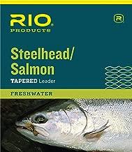 RIO Fly Fishing Salmon/Steelhead 9' 20Lb Leaders (Pack 3), Glacial Green