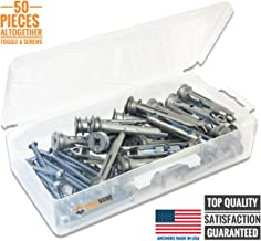 Heavy Duty Self-Drilling Zinc Toggle Drywall Anchors with Screws Kit, 50 Pieces All Together