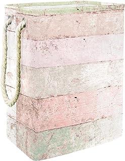 Vockgeng Bois Rose Bacs de Stockage Panier de Rangement imperméable Pliable de Jouets de Jouets de Panier avec des poignée...