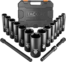 Drive Impact Socket Set, Tacklife 17pcs 1/2-inch Drive Deep Impact Socket Set, 6 Point,..