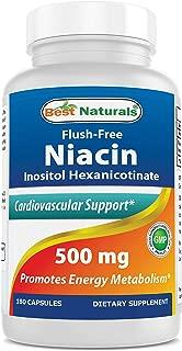 Best Naturals Flush-Free Niacin Inositol Hexanicotinate 500 mg 180 Capsules