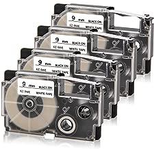 Absonic XR-9WE Labeling Tape Cartridge Compatible for Casio KL-120 KL-60 KL-100 KL-750 KL-780 KL-820 KL-7000 KL-7200 KL-8100 KL-P1000 KL-HD1 Label Maker, 3/8