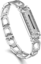 Caramote Compatible for Fitbit Flex 2 Bands, Adjustable Classic Sport Fitness Watch Strap Replacement Accessories Bands Compatible for Fitbit Flex 2/Flex 2 Band, Silver Rose Gold (No Tracker) Updated