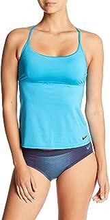 Nike Cross-Back Tankini Top Women?s Swimsuit (Light Blue, M)