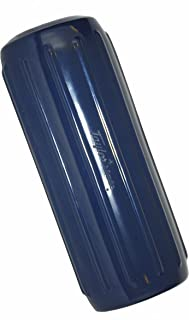 Taylor Made Products 571026 Big B Inflatable Vinyl Boat Fender with Center Rope Tube 8 inch x 20 inch, Navy Blue