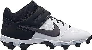 Men's Alpha Huarache Varsity Keystone Mid Baseball Cleats (11.5 White/Grey)❗️Ships directly from Nike❗️