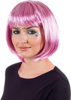 fun shack Adults Lady Pop Diva Wig Womens Blonde Short Fringe Hair Costume Accessory
