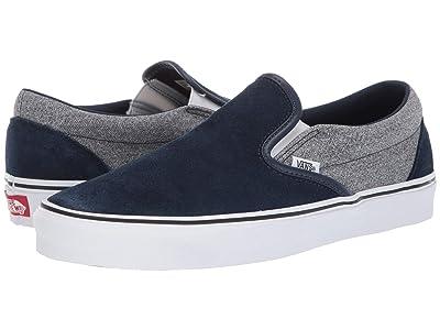Vans Classic Slip-Ontm ((Pig Suede) Suiting/Dress Blues) Skate Shoes