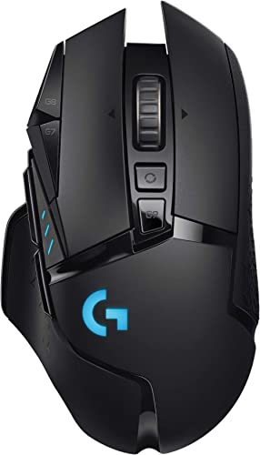 Logitech G502 Lightspeed Wireless Gaming Mouse with Hero 25K Sensor, PowerPlay Compatible, Tunable Weights and Lights...