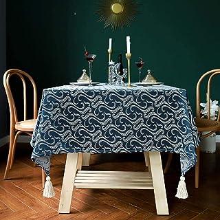 Nappes Rectangulaires / Oblongues Nappe douce épaisse rectangle de table lavable TASSEL TASSEL rétro rides en coton sans c...