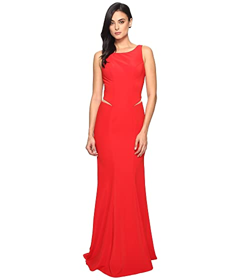 FAVIANA Ottoman Scoop Neck W/ Illusion Cut Out 7987, Scarlet