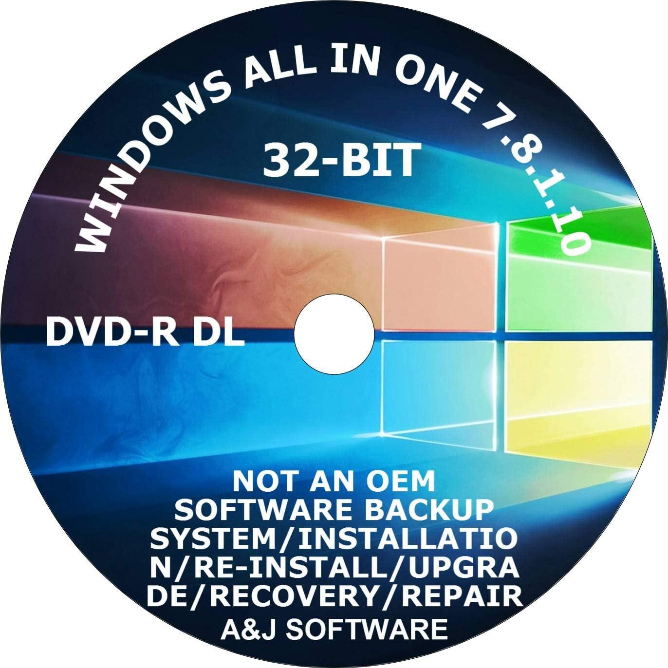 WINDOWS 7 8.1 10 DVD SUITE SET. 32 F 25% Rare OFF FRESH RECOVERY FACTORY -BIT