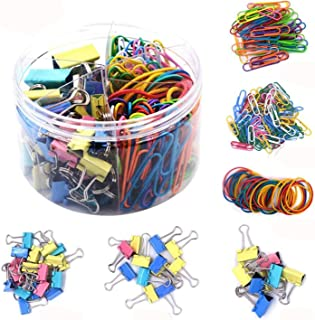 Binder Clips Kit 240Pcs Colored Binder Clips Set for Desk Organizer Accessories Office Stationery Supplies