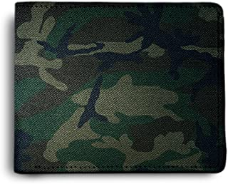 ShopMantra Leather Army Green Pattern Printed Canvas Multicolour Men's Wallet