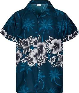 Camisa Hawaiana enrrollada   Hombres   XS-6XL   Manga Corta   Bolsillo Frontal   Hawaiano-Imprimir   Las Flores   Impresió...