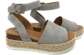 93e93117722 Amazon.com: Grey - Platforms & Wedges / Sandals: Clothing, Shoes ...