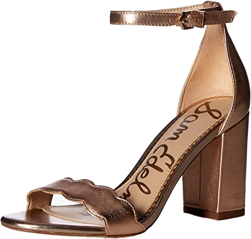 Sam Edelman Woherren Odila Heeled Sandal, Blaush Gold Metallic Leather, 9 M US