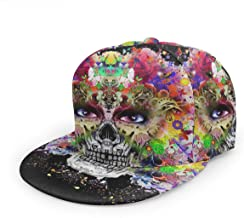 Hand Drawn Indian Skull Baseball Cap 3D Print Snapback Unisex Adjustable Hip Hop Dad Hat Casual Team Black