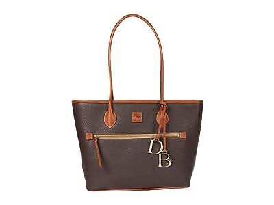 Dooney & Bourke Pebble Tote (Brown/Brandy Trim) Handbags