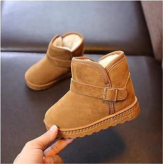 Bottes de neige de la mode enfant d'hiver Nouveaux enfants Chaussures en coton chaud Chaud Spouse Filles Bottes courtes Bo...