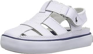 Polo Ralph Lauren Kids Kids' Sander II White Lea Fisherman Sandal