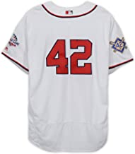 Ryan Zimmerman Washington Nationals Game-Used #42 White Jackie Robinson Day Jersey vs. Colorado Rockies on April 15, 2018 - Fanatics Authentic Certified
