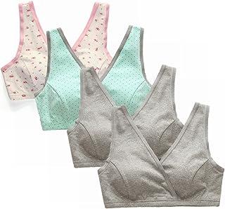 EMY Nursing Bra Maternity Bra Pack Wrap Sleep Bra for Maternity to Nursing Seamless Cotton for Breastfeeding