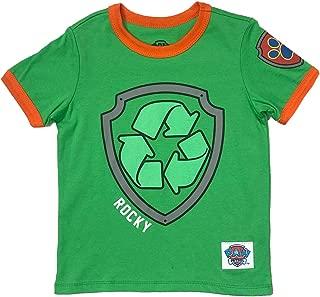 Paw Patrol Ringer T-Shirt: Chase, Marshall, Rocky, Rubble, Zuma, Sky, Everest - Toddlers