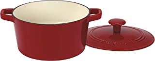 Cuisinart Chef's Classic Enameled Cast Iron 3-Quart Round Covered Casserole, Cardinal Red