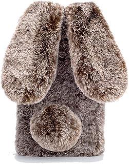 EnjoyCase Case Galaxy M21 Winter Plush Rabbit Ears Faux Fur Soft Gel Flexible Women Girls's 3D Cartoon Fluffy Furry Bumper...