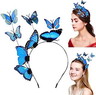 Aniwon Headbands for Women Hair Hoop Butterfly, Mother day gift, Creative Elegant Design Hair Band Costume Accessories Headband Fascinator Hat (Blue)