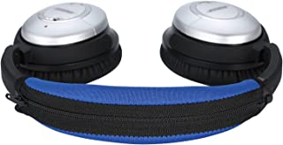 QC15 QC2 Headband Cover, JARMOR Replacement Head Band Protector with Zipper [ Easy Installation ] for Bose QuietComfort 15, QuietComfort 2 Headphones (Blue)