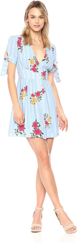 Adelyn Rae Womens Iris Woven Printed Dress Dress