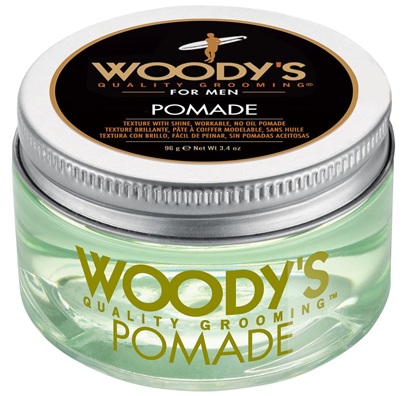 スリル投げ捨てる鳴らすWoody's Pomade for Men, Pomade, 3.4 Ounce