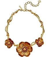 Oscar de la Renta - Poppies Flower Necklace