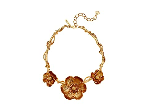 Oscar de la Renta Poppies Flower Necklace