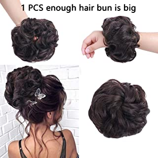 AISI BEAUTY Messy Bun Hair Scrunchies Messy Bun Hair Piece for Women Curly Wavy Scrunchy Updo Bun Extensions(Color:2/33)