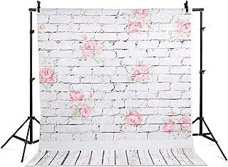 Photography Background Vinyl Backdrop Paper Studio Props-Wood Floor Brick Wall Printing 5x7ft