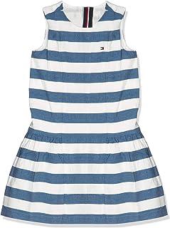 Tommy Hilfiger Girl's ICONIC CHAMBRAY SLEEVELESS Dress