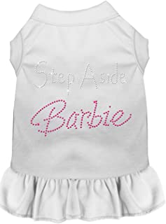 Mirage Pet Products 57-25 4XWT White 4 Step Aside Barbie Rhinestone Dress, 4X-Large