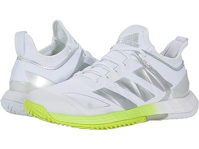 adidas Adizero Ubersonic 4 (White/Silver Metallic/Solar Yellow) Women
