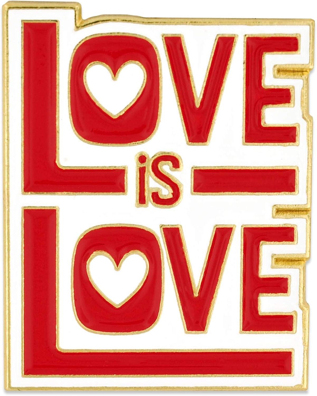 PinMart Love is Love Cute Retro Enamel Lapel Pin Jewelry